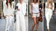Beyaz Pantolon Kombinleri 30+Kombin