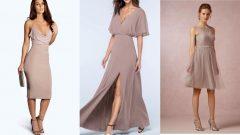Vizon Rengi Elbise Altına Ayakkabı