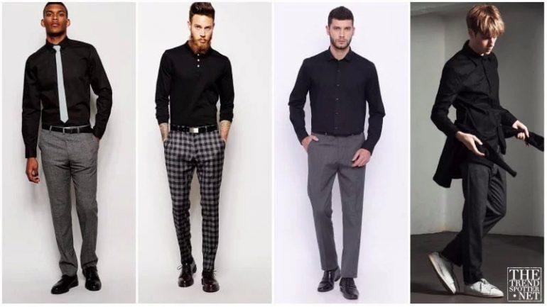 Gri Pantolon Üzerine Ne Giyilir Erkek