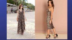 Leopar Desenli Elbise Kombinleri