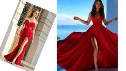 Kırmızı Elbise Kombinleri 2020