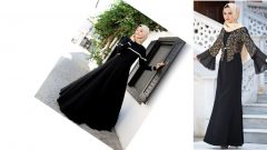Siyah Elbise Şal Kombinleri