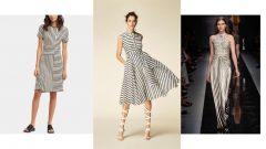 Çizgili Uzun Elbise Kombinleri