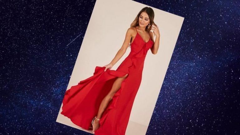 Kırmızı Elbise Ayakkabı Kombini
