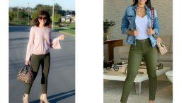 Haki Yeşil Pantolon Kombinleri
