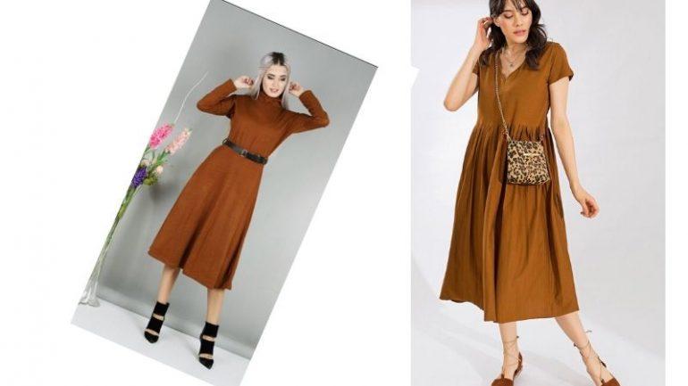 Kahverengi Elbise Kombinleri