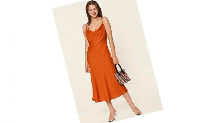 Tarçın Rengi Elbise Kombinleri