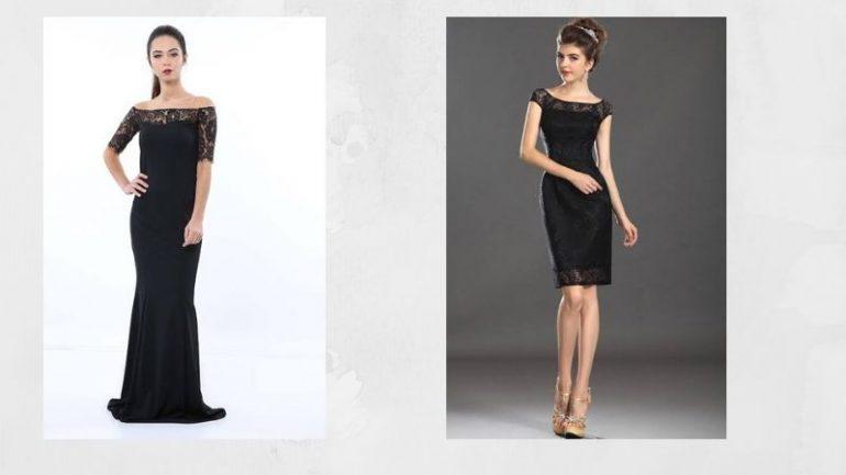 Siyah Dantel Elbise Kombinleri