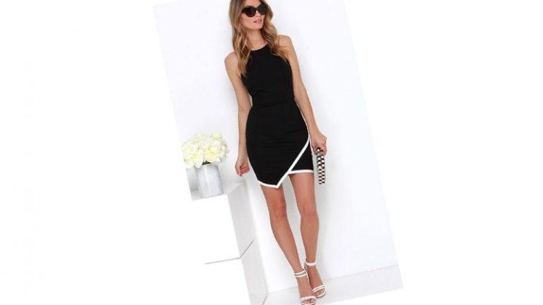 Siyah Beyaz Elbise Kombinleri