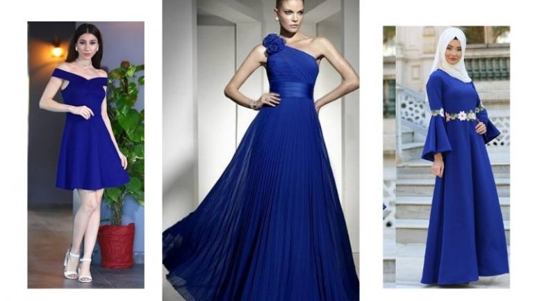 Saks Mavisi Elbise Kombinleri