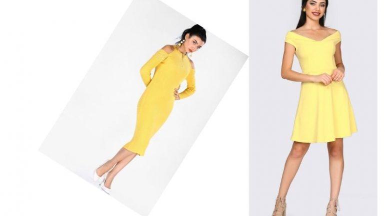 Sarı Elbise Kombin