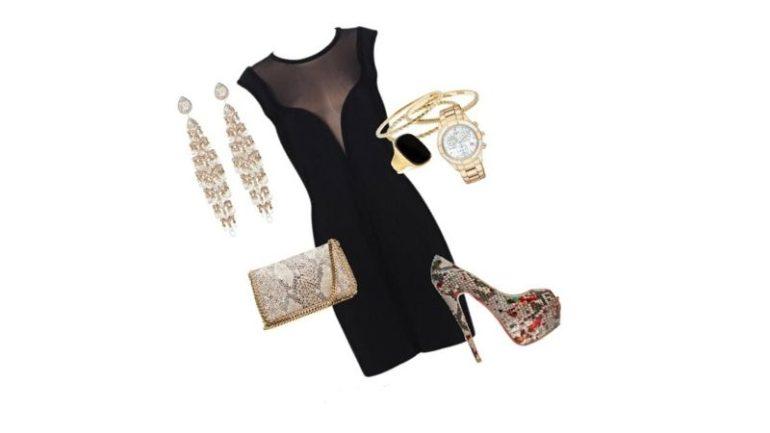 Siyah Elbise Takı Kombinleri