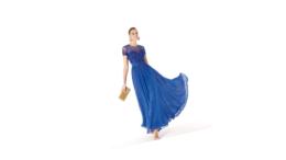 Mavi Elbise Altına Ayakkabı