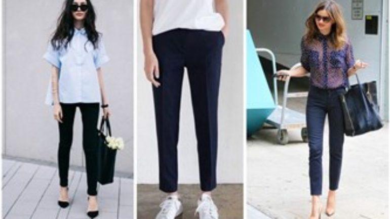 Siyah Kumaş Pantolon Altına Ayakkabı Bayan