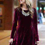 Altın Rengi Kombinli Kadife Elbise