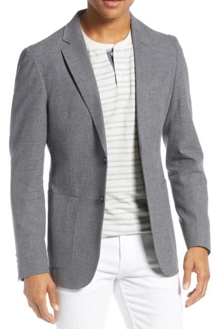 Beyaz Pantolon Kombin Gri Blazer Ceket