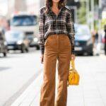 Ekose Gömlek Kombinleri : Kadife Pantolon