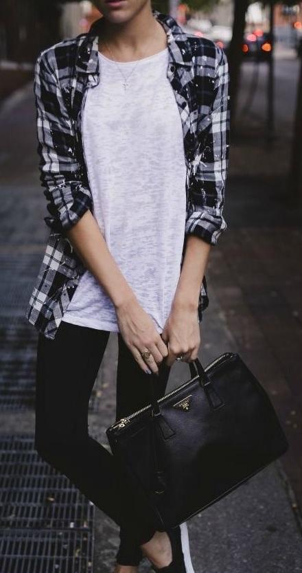 Ekose Gömlek Kombinleri : Tişört ve Jean pantolon