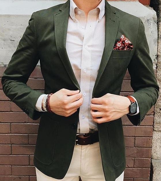 Erkek Blazer Ceket Nasıl Giyilir : Yeşil Tonlarda