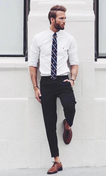 Erkek Giyim Kombinleri : Kravat Gömlek Pantolon