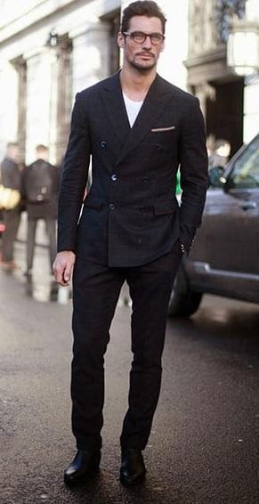 Erkek Giyim Kombinleri : Siyah Ceket Pantolon