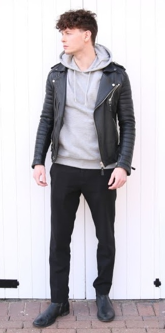 Erkek Kış Kombinleri : Deri Ceket
