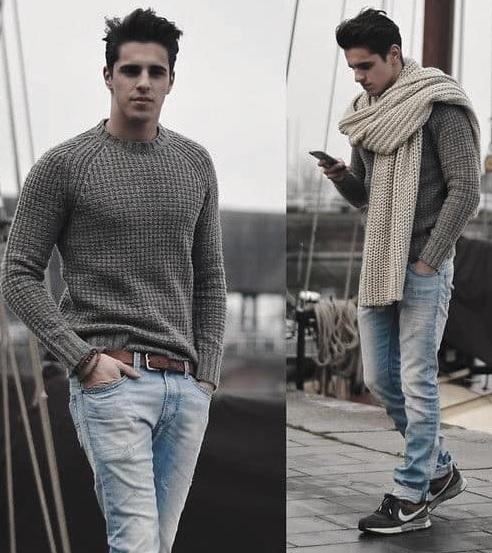 Erkek Kış Kombinleri : Kazak Pantolon