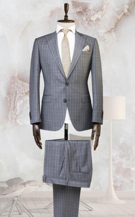 Erkek Mezuniyet Kombinleri : Kareli Takım Elbise