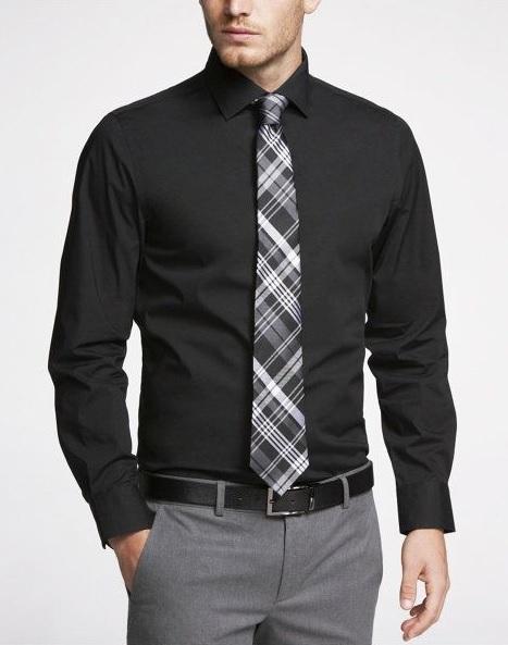 Erkek Mezuniyet Kombinleri : Siyah Gömlek Gri Pantolon