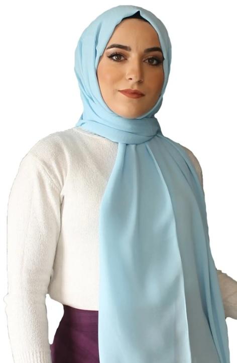 Esmerlere Yakışan Şal Renkleri : Mavi Renk