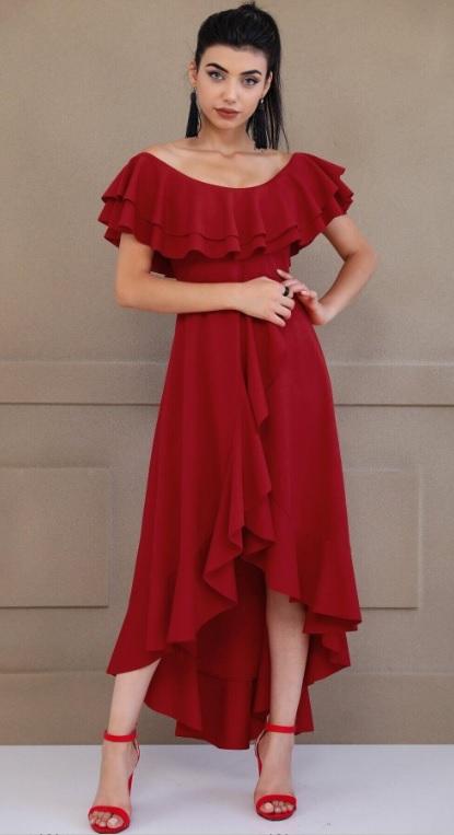 Kırmızı Renk Kız İsteme Elbiseleri