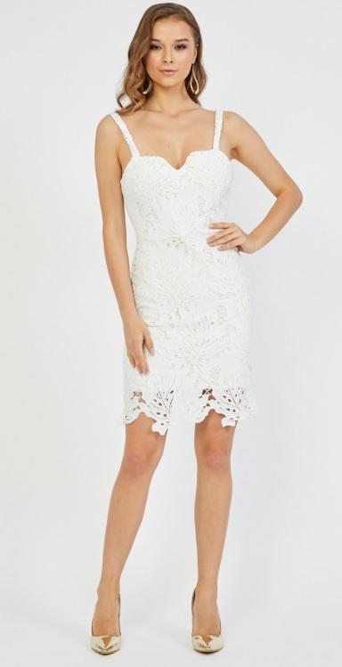 Kısa Beyaz Kız İsteme Elbiseleri