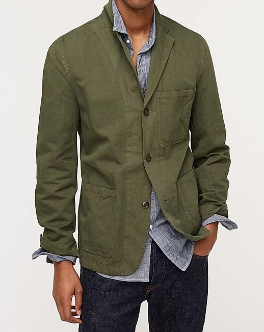 Kot Pantolon Kombin Koyu Yeşil Blazer Ceket