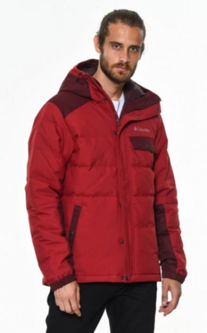 Erkek Sonbahar Kombinleri : Columbia Kırmızı Mont Siyah Pantolon