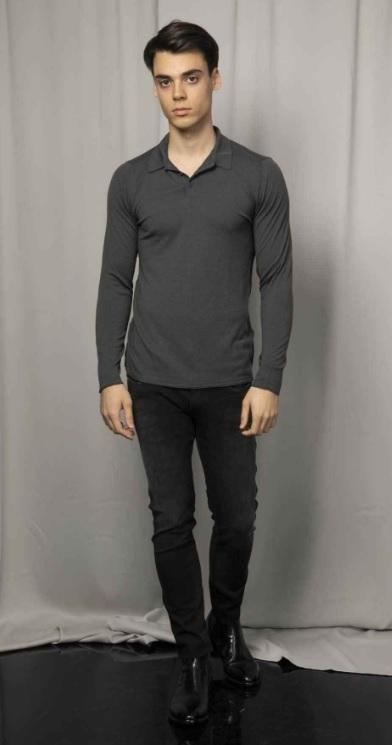 Erkek Sonbahar Kombinleri : Gri Kazak Siyah Pantolon