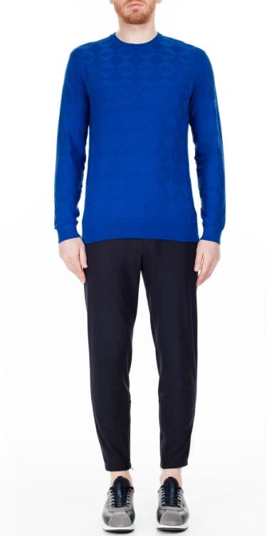 Erkek Sonbahar Kombinleri : Mavi Kazak Siyah Pantolon