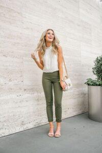 Asker yeşili pantolon ayakkabı