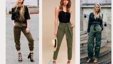 Askeri Yeşil Pantolon Kombinleri Sizlerle