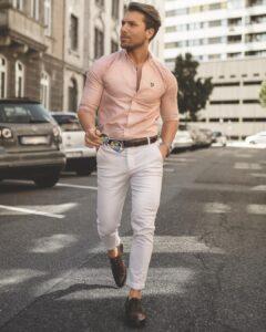 gömlek kemer ve ayakkabı kombini