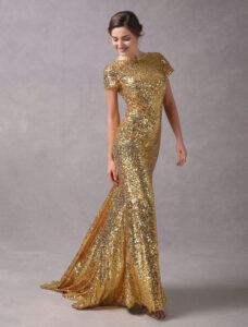 Pul payetli dore elbise