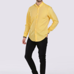 Erkek sarı gömlek