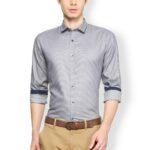 Gri renk gömlek kombini