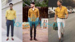 Sarı Gömleğin Altına Hangi Renk Pantolon Giyilir Erkek?