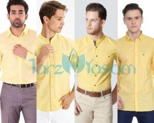 Sarı gömlek hangi renk pantolonla giyilir