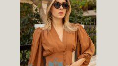 Taba Rengi Bluz Kombinleri ve Modelleri