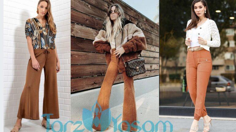 Tarçın Rengi Pantolon Kombinleri Sizlerle
