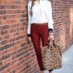 Tarçın rengi pantolon kombinleri kadın
