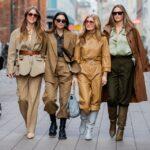 Camel rengi pantolon kombinleri bayan